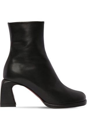 MANU 75mm Chae Leather Ankle Boots