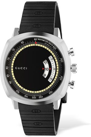 Gucci Gg Grip Watch W/ Rubber Strap