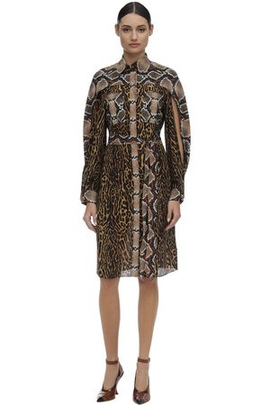 Burberry Printed Mulberry Silk Dress