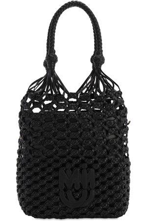 Miu Miu Kvinder Clutches - Leather Net Tote Bag