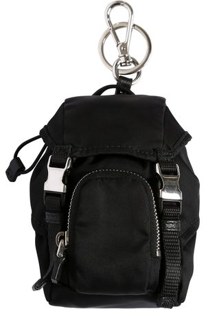 Prada Mini Nylon Backpack Key Holder