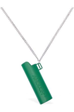 AMBUSH Embossed Lighter Case Necklace