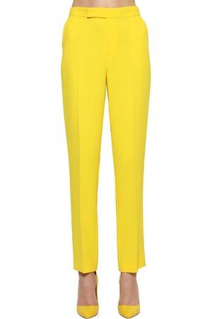 Ralph Lauren Cropped Straight Leg Crepe Cady Pants