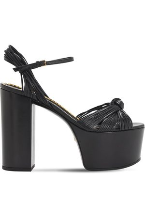 Gucci 125mm Crawford Leather Platform Sandals