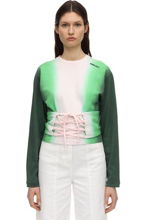 AMBUSH Cotton T-shirt W/corset