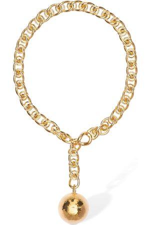 Bottega Veneta Braided Chain Necklace W/ Sphere
