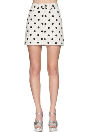 Marc Jacobs Polka Dot Denim Mini Skirt