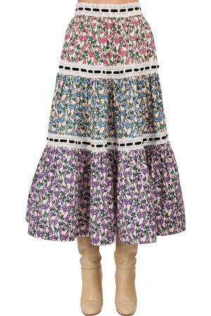 Marc Jacobs Floral Print Cotton Poplin Skirt