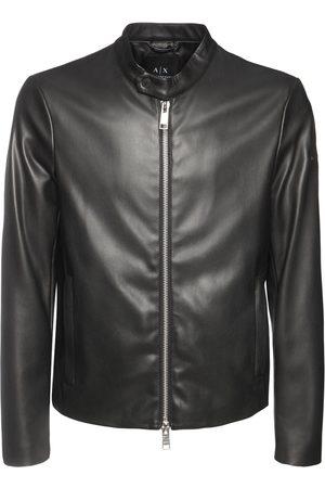 Armani Faux Leather Biker Jacket