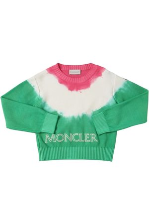 Moncler Embroidered Cotton Tricot Knit Sweater