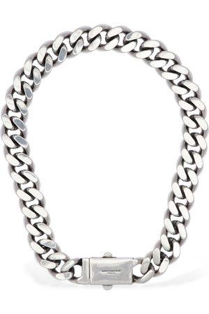 Saint Laurent Logo Buckle Chunky Chain Necklace