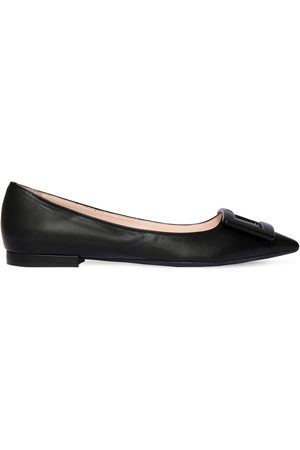Roger Vivier 10mm Gommettine Leather Ballerinas