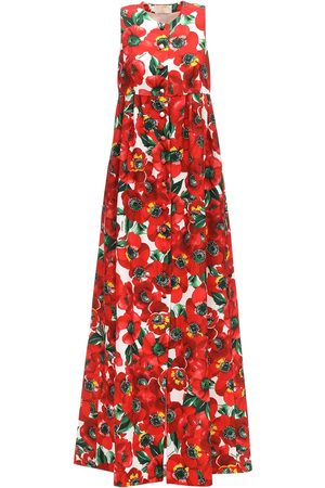 Sara Battaglia Printed Cady Maxi Dress