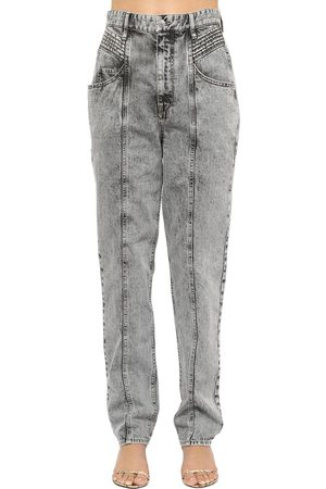 Isabel Marant Henoya High Waist Cotton Denim Jeans