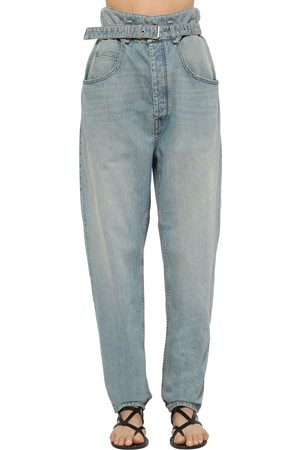 Isabel Marant Gloria High Waist Belted Denim Jeans