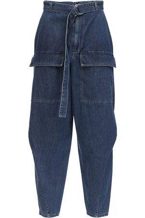 Stella McCartney Kvinder Tapered - Tapered Cotton Denim Jeans