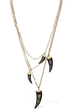 Isabel Marant Aimable Multi Horn Chain Necklace