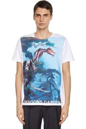 VALENTINO Dragons Garden Printed Cotton T-shirt