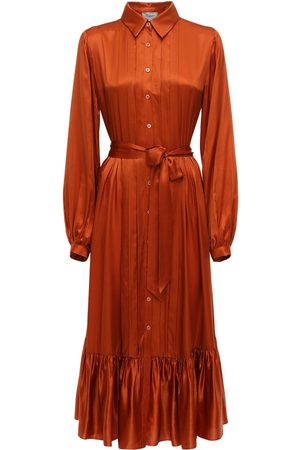 TEMPERLEY LONDON Viscose & Silk Midi Shirt Dress