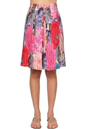 VALENTINO Pleated Crepe De Chine Bermuda Shorts
