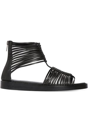 ANN DEMEULEMEESTER 20mm Leather Flat Sandals