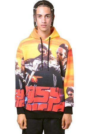 MARCELO BURLON Allover Easy Rider Print Jersey Hoodie