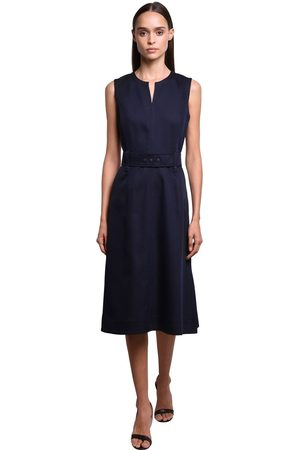Sportmax Cotton & Viscose Gabardine Dress