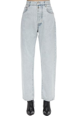 UNRAVEL Cropped Baggy Cotton Denim Jeans