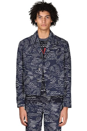 Kenzo Marina Allover Print Cotton Blend Jacket