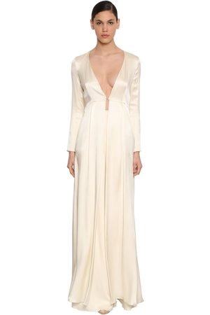 TEMPERLEY LONDON Julianna Silk Satin Coat