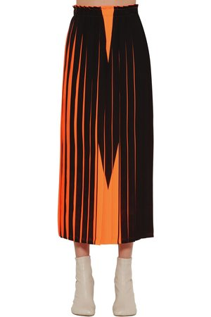 MM6 MAISON MARGIELA M Print Pleated Midi Skirt