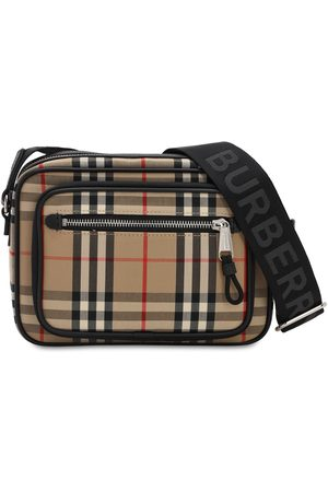 Burberry Paddy Check Canvas Crossbody Bag