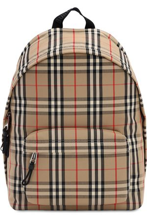 Burberry Jett Check Canvas Backpack