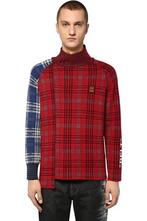 OFF-WHITE Check Wool Blend Knit Sweater