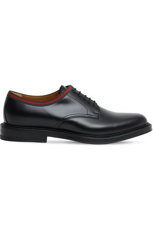 Gucci 15mm Leather Lace-up Derby Shoes