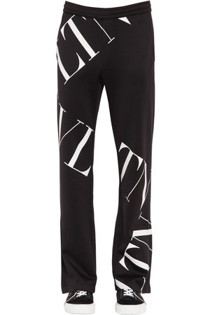 VALENTINO Printed Cotton Blend Jersey Track Pants