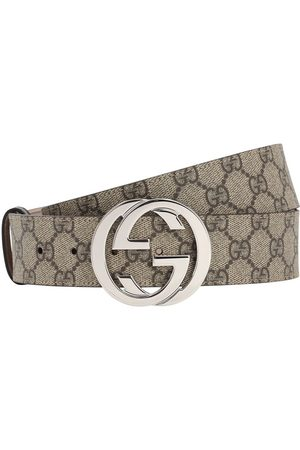 Gucci 40mm Gg Supreme Logo Leather Belt