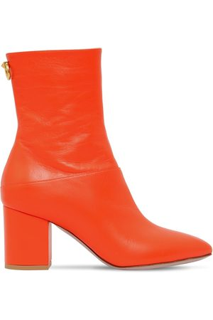 VALENTINO GARAVANI 70mm Ringstud Leather Ankle Boots