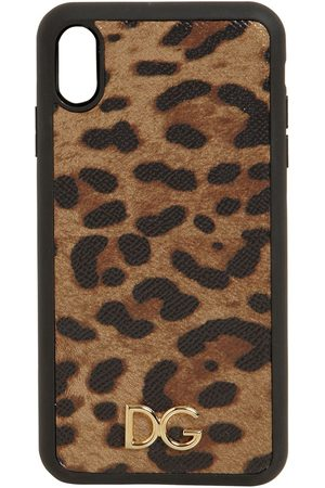 Dolce & Gabbana Kvinder Mobil Covers - Print Leather Iphone Xs Max Case