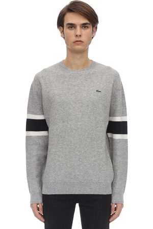 Lacoste Crocodile Wool Blend Knit Sweater