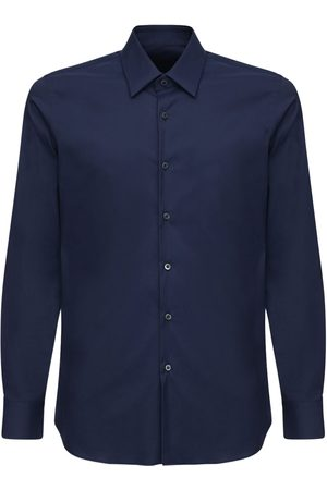 Prada Slim Stretch Cotton Poplin Shirt