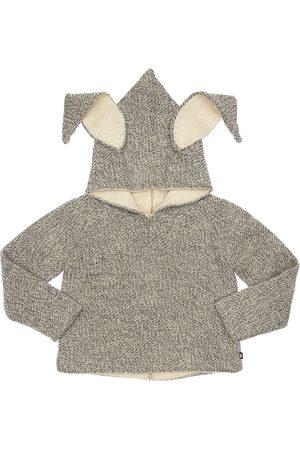 OEUF Reversible Bunny Alpaca Knit Sweater