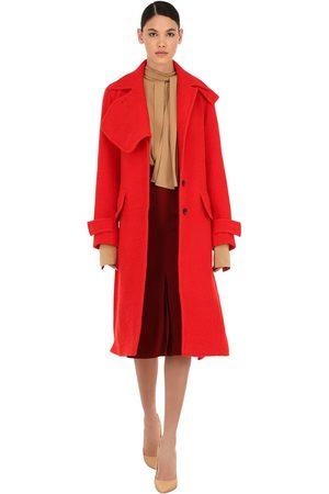 Victoria Beckham Virgin Wool Blend Bouclé Coat