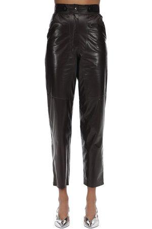 MARYAM NASSIR ZADEH High Waisted Leather Pants