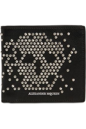 Alexander McQueen Mænd Punge - Studded Skull Classic Leather Wallet