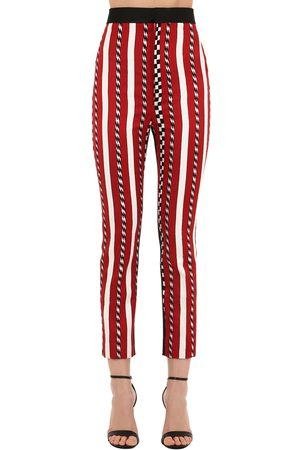 Haider Ackermann High Waist Striped Jacquard Pants