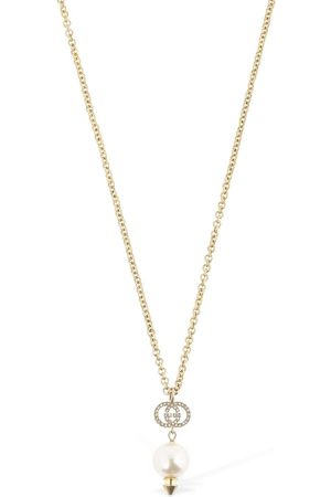 Gucci Gg Imitation Pearl Long Necklace