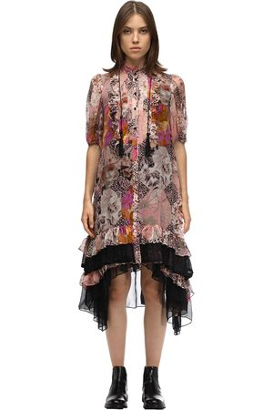 Coach Printed Silk Chiffon Midi Dress