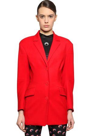 Marine Serre Tessibiella Tailored Wool Jacket