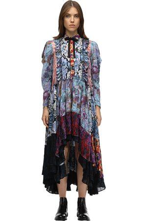 Coach Printed Viscose Chiffon Patchwork Dress